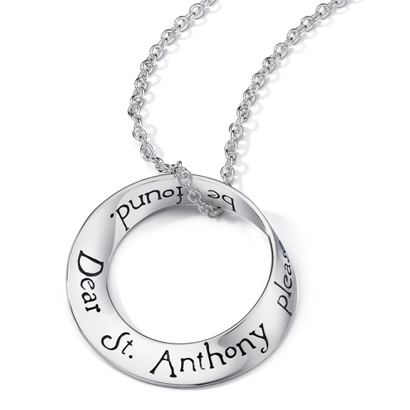 Dear St. Anthony Mobius Necklace (silver)