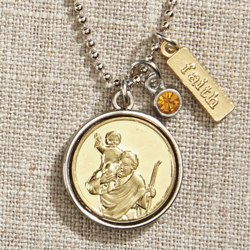 St. Christopher Necklace (gift bag)