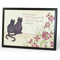Beside You (plaque with cats)