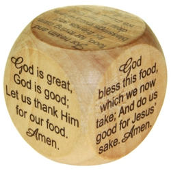 Mini Mealtime Prayer Cube