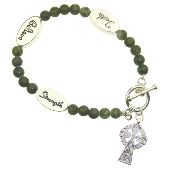 Celtic Cross Marble Bracelet