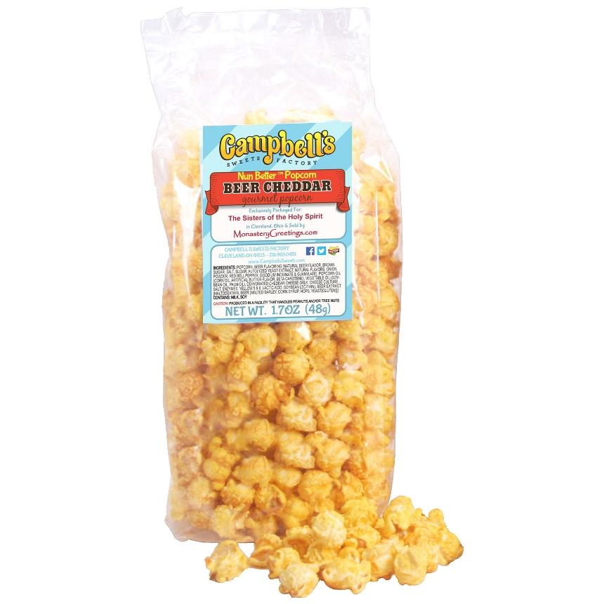 Nun Better Beer Cheddar Popcorn