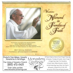 2017 Pope Francis Wall Calendar (FREE with $30 purchase)
