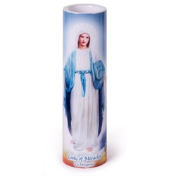 Our Lady of Miracles LED Prayer Candle