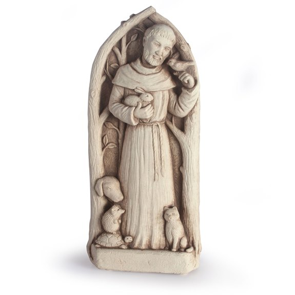 Stone Statue - St. Francis Blesses the Animals