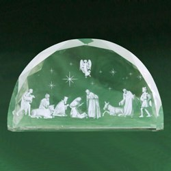 Etched Glass Nativity (gift boxed)