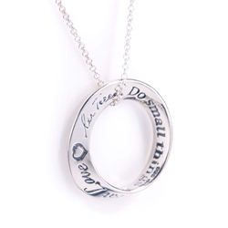 Mother Teresa Quotation Mobius Necklace (silver)