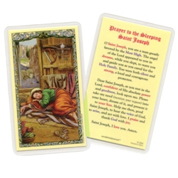 Sleeping Saint Joseph Prayer Cards (25-pack)