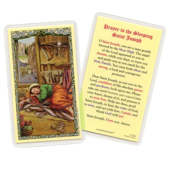 Sleeping Saint Joseph Prayer Cards (25-pack)