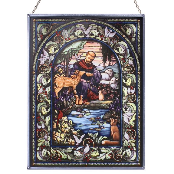 St. Francis & the Animals Glass Suncatcher