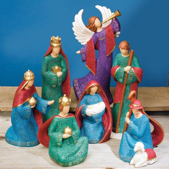 Hand-Painted Nativity Set