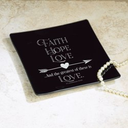 Faith, Hope, Love Jewelry Dish