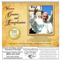 2018 Pope Francis Wall Calendar
