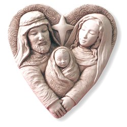 Heart of Christmas Stone Plaque