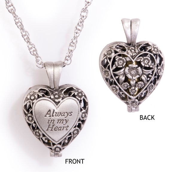 Always in My Heart Memorial Locket