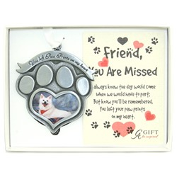 Paw Prints Photo Ornament