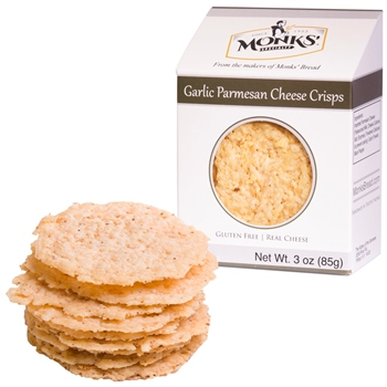 Monks' Garlic Parmesan Cheese Crisps