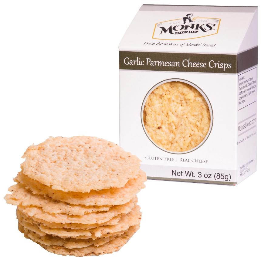 Monks' Garlic Parmesan Cheese Crisps
