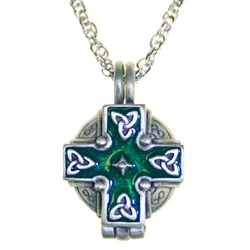 Irish Cross Memorial Locket Necklace