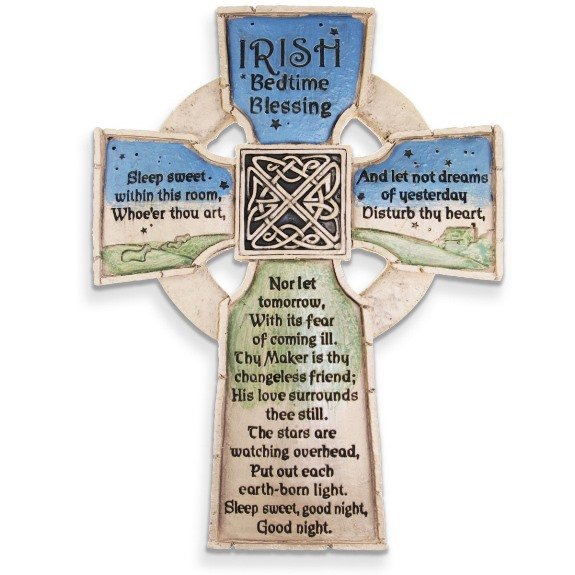 Irish Bedtime Blessing Wall Cross (gift box)