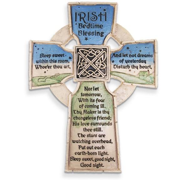 Irish Bedtime Blessing Wall Cross (gift box)