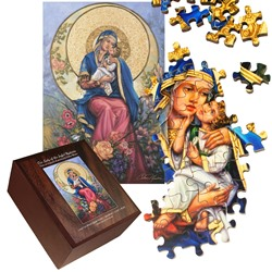 Our Lady of the Joyful Mysteries (wood puzzle)