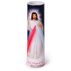 Divine Mercy LED Prayer Candle
