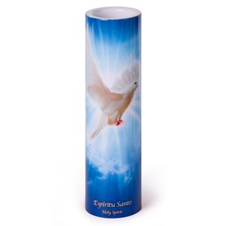 Holy Spirit LED Prayer Candle