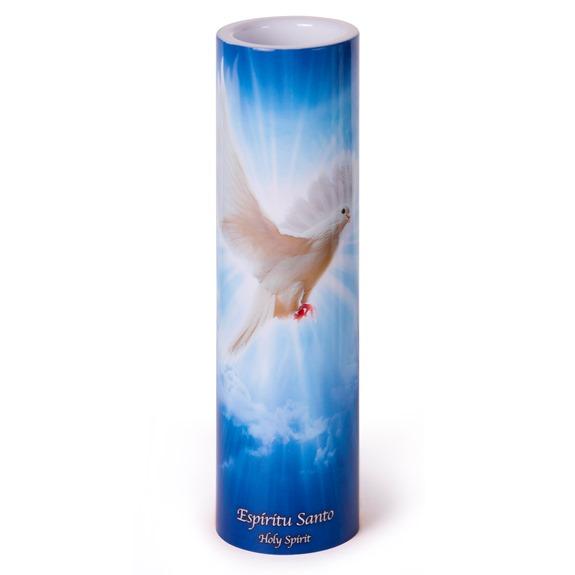Holy Spirit LED Prayer Candle