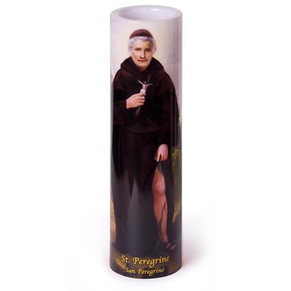 St. Peregrine LED Prayer Candle
