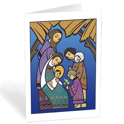 holy family with shepherds box of 20