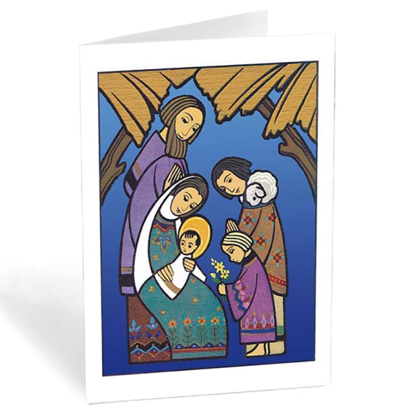 Holy Family with Shepherds (box of 20)