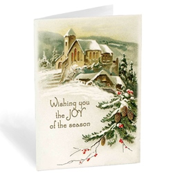 Church in Snow with Pine Trees (6-pack)