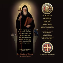 St. Benedict LED Prayer Candle