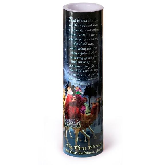 The Three Wisemen LED Prayer Candle