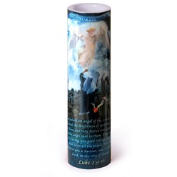 Angel & Shepherds LED Prayer Candle