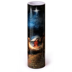 The Nativity LED Prayer Candle