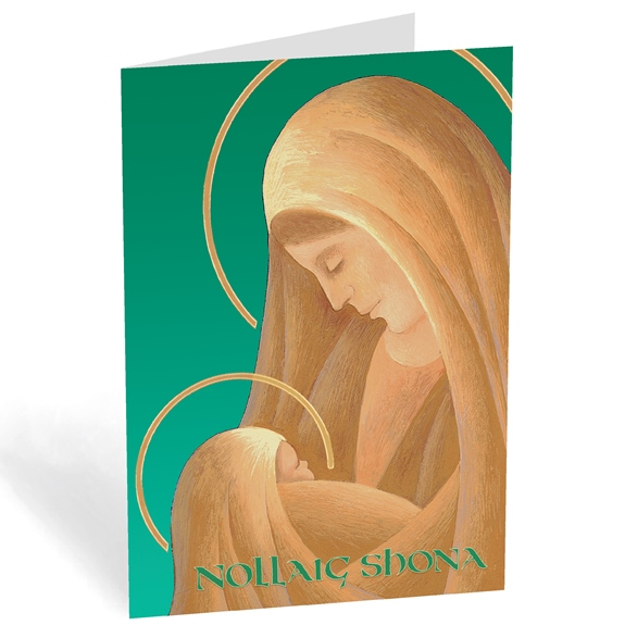 Nollaig Shona Irish Madonna & Child (box of 18)