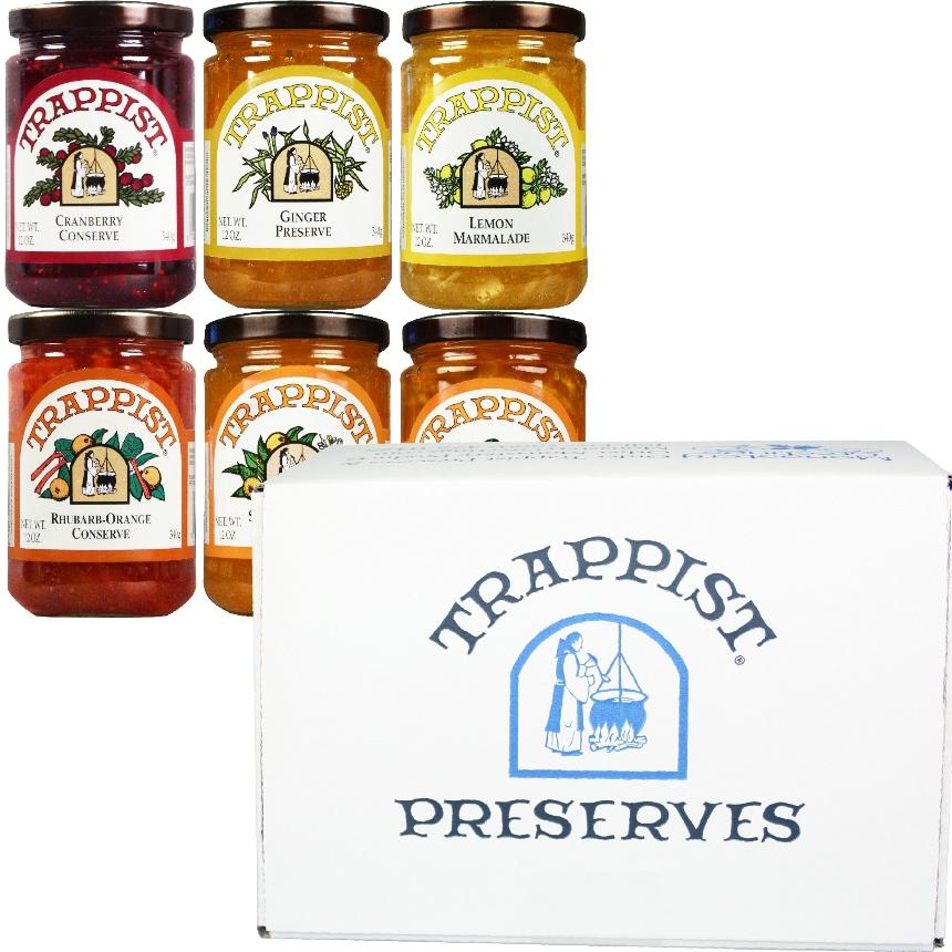 Trappist Preserves Marmalades & Conserves 6-Jar Gift