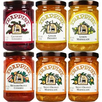 Trappist Preserves Marmalades & Conserves 6-Jar Sampler