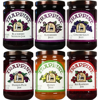 Trappist Preserves Jams & Jellies 6-Jar Sampler