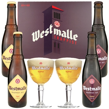 Westmalle Gift Set (4 ales & 2 glasses)