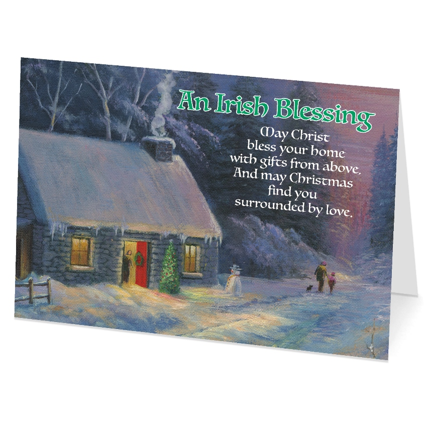 An Irish Blessing with Cottage (box of 18)