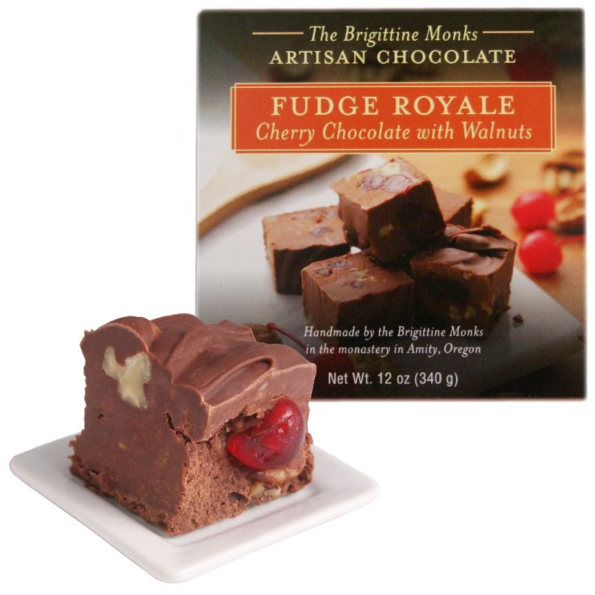 Cherry Chocolate Fudge Royale with Walnuts