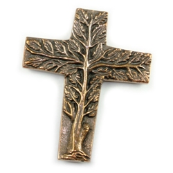 Bronze Tree of Life Crosses
