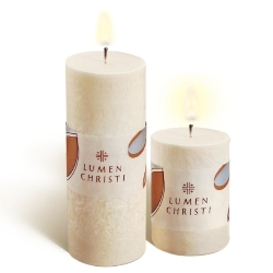 Easter Lily Pillar Candles