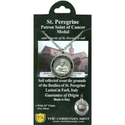 St. Peregrine Medal with Forli Soil