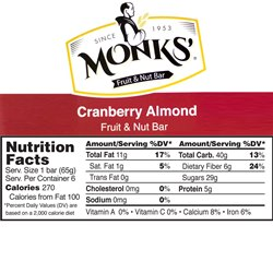 Monks' Cranberry Almond Bars