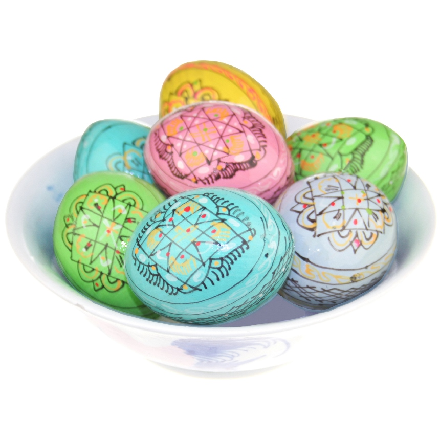 Hand-Painted Eggs (Pastel Pysanky)