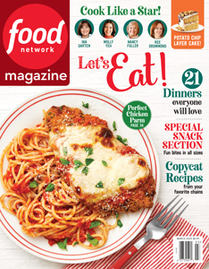 the cover of the magazine Food Network
